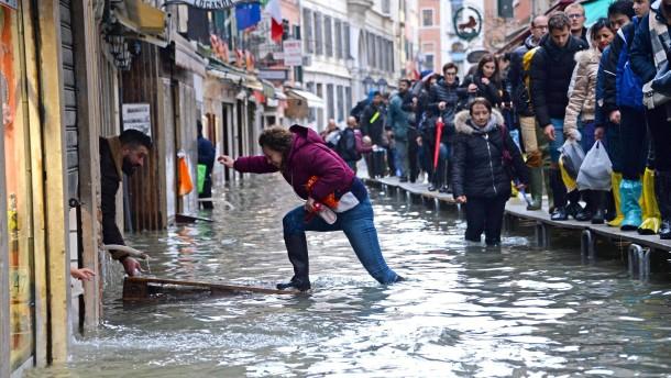 Markusplatz wieder überschwemmt