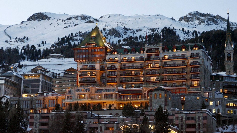 Blick auf das Badrutt's Palace Hotel in Sankt Moritz (Archivbild)