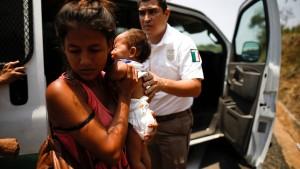 Flüchtlinge an mexikanischer Grenze festgenommen