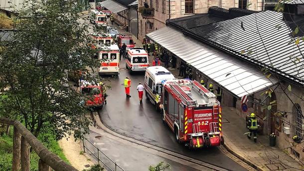 Explosion im Salzbergwerk Berchtesgaden