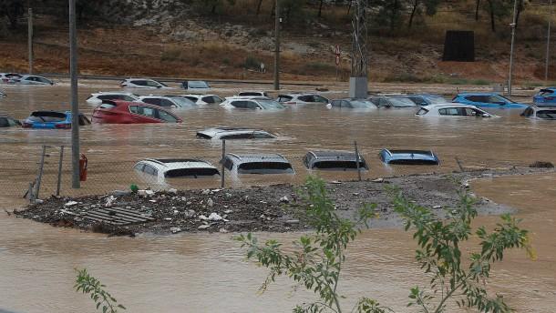 Zwei Tote bei schwerem Unwetter an der spanischen Mittelmeerküste