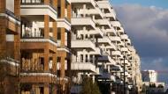 Neue Monotonie: das frisch erbaute Frankfurter Europaviertel