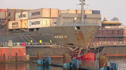 Frachter rammt Schleuse in Nord-Ostsee-Kanal
