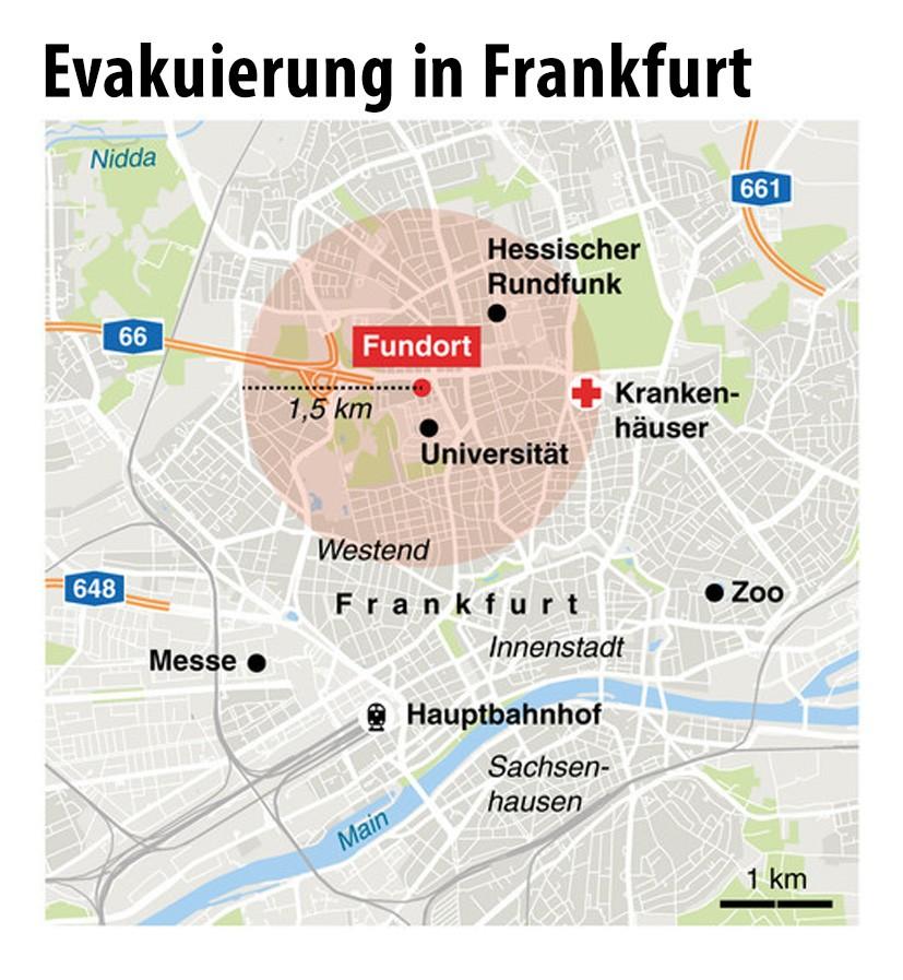 frankfurt evakuierung karte Bilderstrecke zu: Frankfurt steht vor größter Evakuierung der