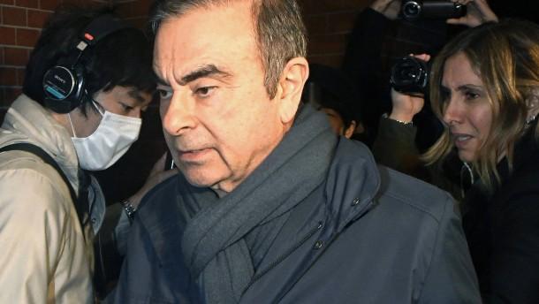 Automanager Ghosn kommt erneut auf Kaution frei