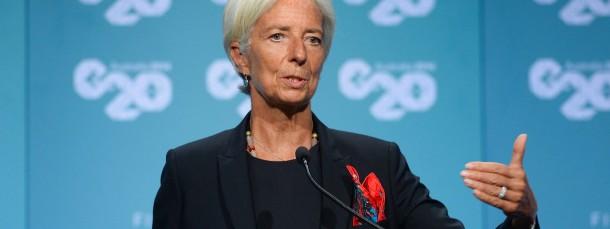 IWF-Chefin Christine Lagarde beim G20-Treffen.