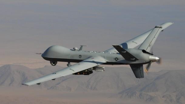 Eine amerikanische Drohne im Einsatz