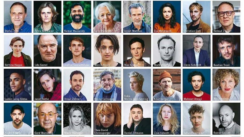 """185 Schauspielerinnen und Schauspieler, die sich in einem Manifest als schwul, lesbisch, bisexuell, queer, nicht-binär und trans outen, auf dem Cover des """"Süddeutsche Zeitung Magazins"""""""