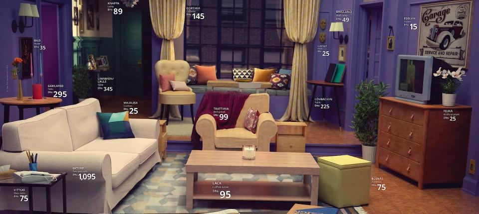 Ikea stellt Wohnzimmer beliebter Serien nach