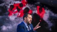 Salvini während einer italienischen Talkshow