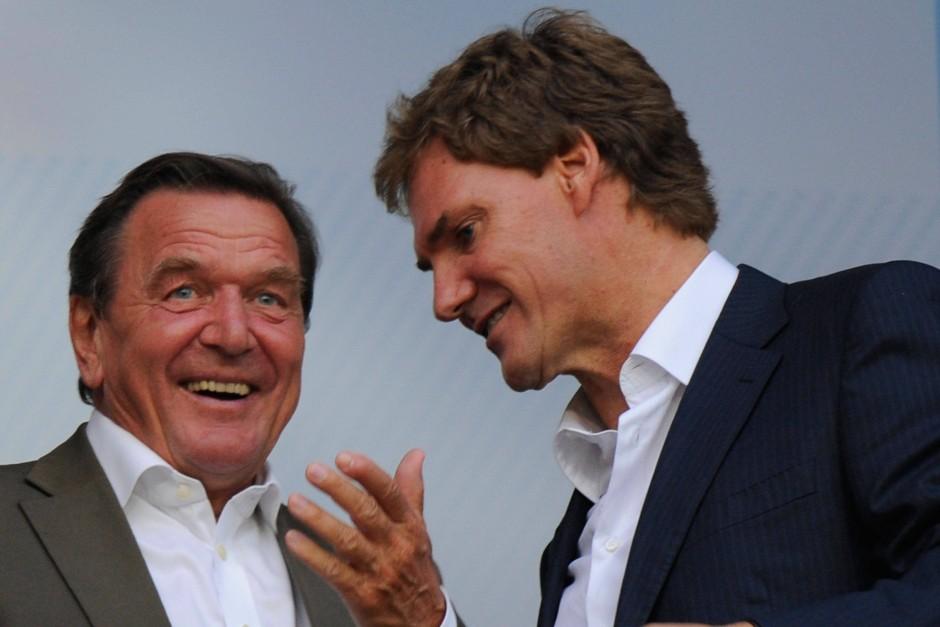 Freunde: Schröder (links) und Maschmeyer
