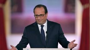 Der französische Präsident François Hollande an diesem Donnerstag im Élysée-Palast