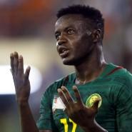 Glücklos wie die ganze Mannschaft: Kameruns Salli nach einer vergebenen Torchance