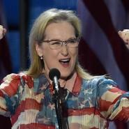 Inbrünstig: Oscar-Preisträgerin Meryl Streep hielt vor den Delegierten eine flammende Rede für Hillary Clinton.