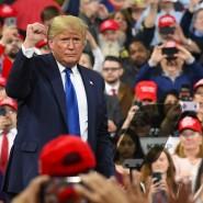 Siegessicher: Donald Trump am Dienstag während einer Wahlkampfveranstaltung in Milwaukee