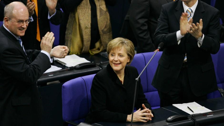 Die Abgeordnete Doktor Angela Merkel am 22. November 2005 in Berlin nach ihrer ersten Wahl zur Kanzlerin