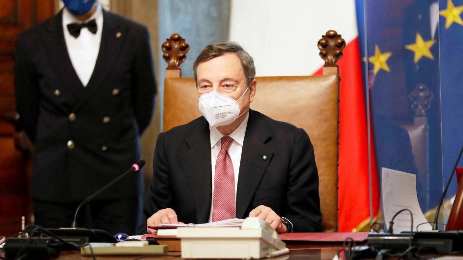 Er soll es richten: Italiens neuer Ministerpräsident Mario Draghi
