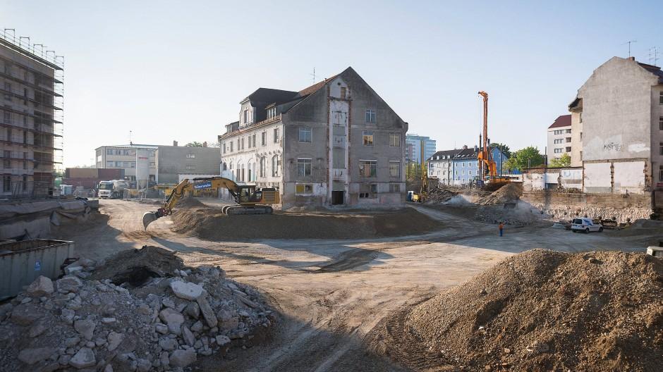 Überall wird gebaut: Hier eine Baustelle im Münchner Stadtteil Pasing.