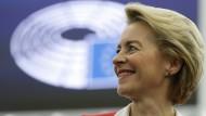 Ursula von der Leyen nach der Wahl im Europäischen Parlament am Mittwoch
