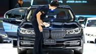 BMW hat bis Ende März 587.000 Autos verkauft – 5,2 Prozent mehr als im Vorjahresquartal.