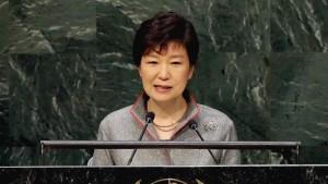 Südkoreas Präsidentin fordert Ende der Teilung