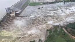 Wassermassen zerstören Brücke in Texas