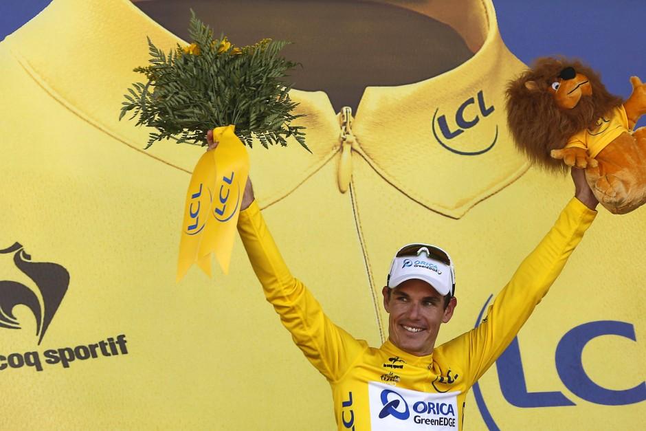 Mann in Gelb: Daryl Impey ist der erste südafrikanische Gesamtführende in der Geschichte der Tour de France