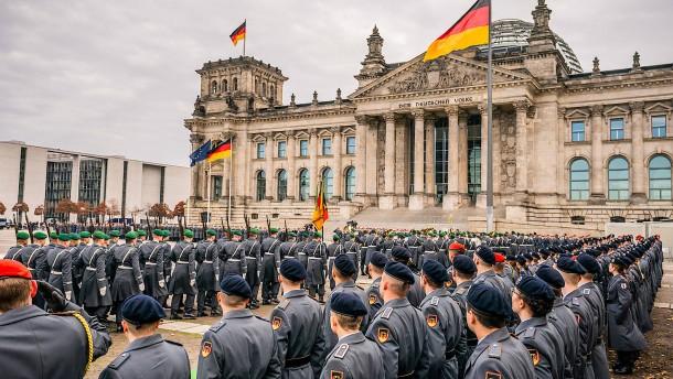 Öffentliches Gelöbnis am Reichstag