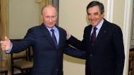 Gute Freunde? Fillon im März 2013 zu Gast bei Putin in Moskau