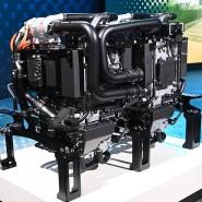 Die Brennstoffzelle eines Daimler-Trucks