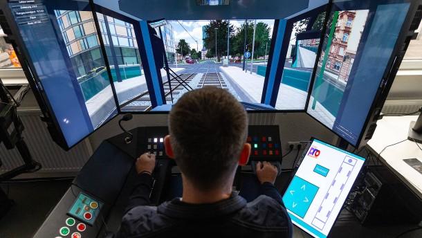 Mit dem Simulator durch Frankfurt fahren