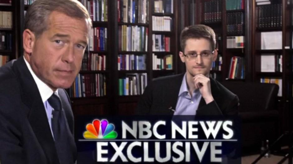 Snowden (rechts) im Interview mit dem NBC-Journalusten Brian Williams