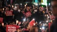 Fordern Parks Rücktritt: Demonstranten in Seoul