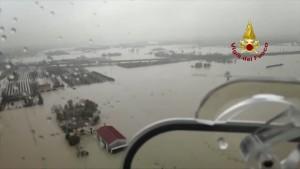 Unwetter sorgt bei Bologna für heftige Überflutungen