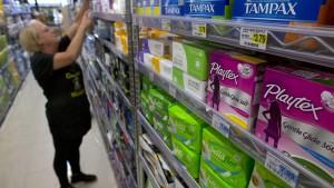 Kalifornien hält an der Steuer für Tampons fest