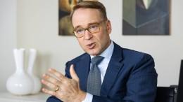 Bundesbankpräsident Jens Weidmann warnt vor Panik
