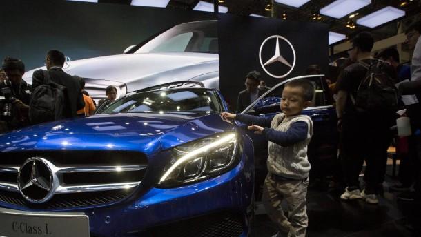 China wirft Mercedes Preismanipulation vor