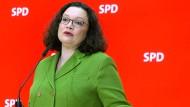 SPD-Vorsitzende Andrea Nahles