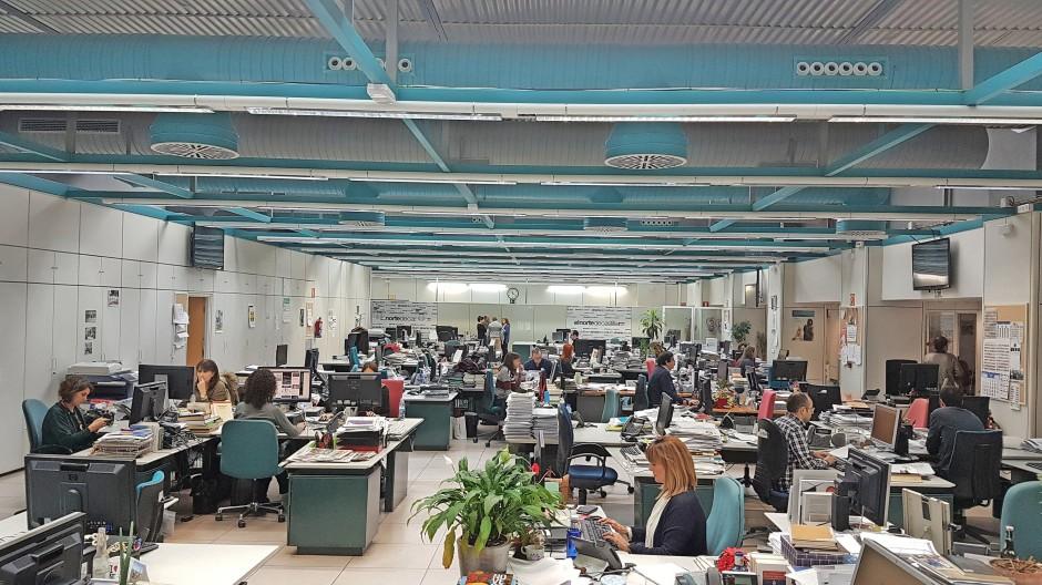 Arbeit im Industriegebiet des Geistes: die Zeitungsredaktion von El Norte de Castilla in Valladolid