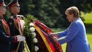 Angela Merkel am Freitag in Moskau