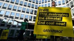 Greenpeace protestiert gegen Kohleabbau
