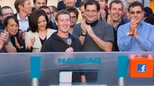 Facebook geht beim Börsenstart die Puste aus