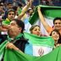 Gemischtes Publikum: Iranische Volleyballfans bei der WM in Polen