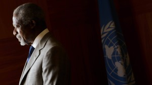 Kofi Annan gibt als Vermittler auf