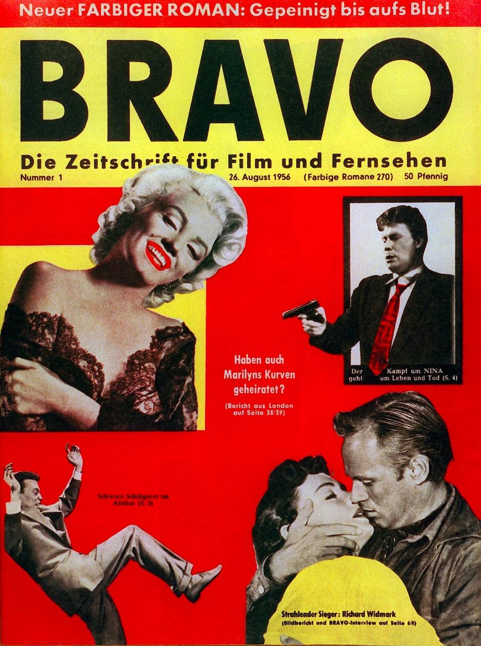 Haben auch Marylins Kurven geheiratet? Die Titelgeschichte der ersten Bravo am 26. Juni 1956.