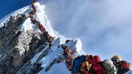 Gefährlicher Stau am Gipfelgrat
