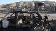 Zu dem Anschlag bekannten sich die Taliban.