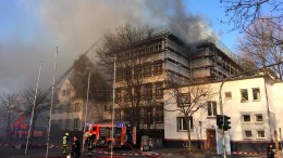 Brand am Dachstuhl der Fachhochschule