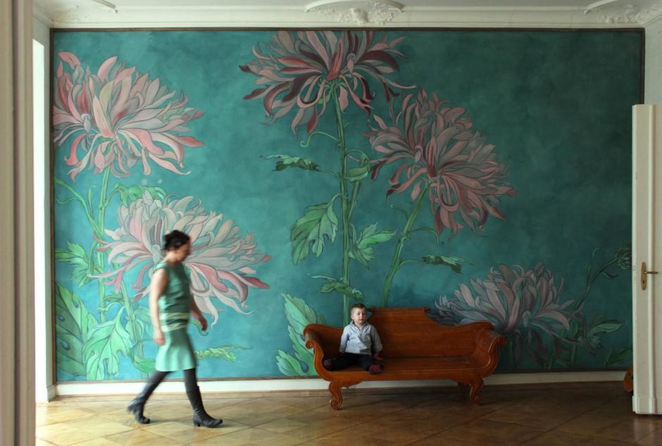Stoffbespannungen an der wand - Wandmalerei berlin ...