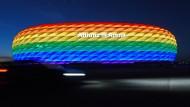 Wird am Mittwoch nicht in Regenbogenfarben leuchten: die Allianz-Arena in München